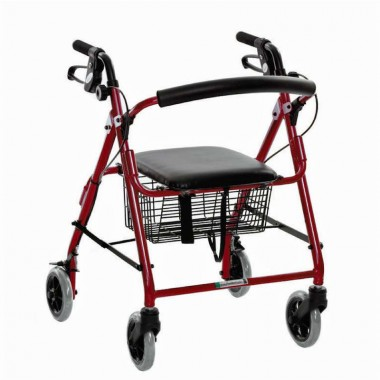 rollator-essential-featherlight-demi-red 1